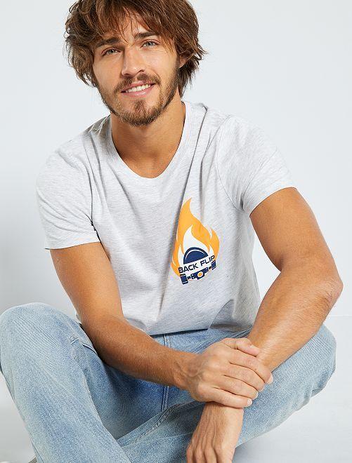 T-shirt imprimé 'éco-conception'                                                                                                                                                                                                                 gris/flemme