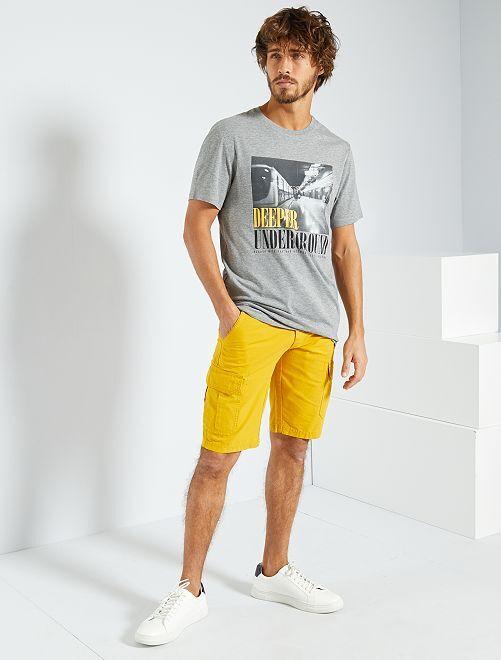 T-shirt imprimé 'éco-conception'                                                                                                                                                                                                                 gris/metro