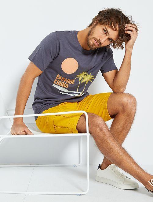 T-shirt imprimé 'éco-conception'                                                                                                                                                                 gris/paradise