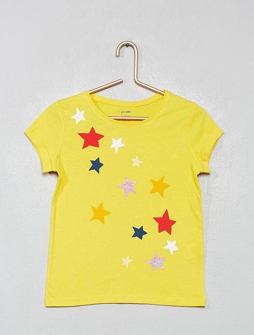 T-shirt imprimé 'éco-conception'                                                                                                                                                                                                                                                     jaune étoiles