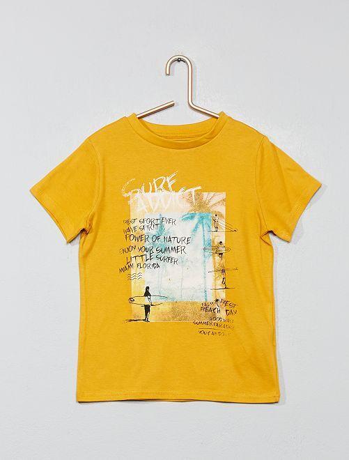 T-shirt imprimé 'éco-conception'                                                                                                     jaune surf