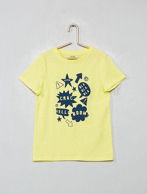 T-shirt imprimé 'éco-conception'                                                                                                                                                     jaune/typo