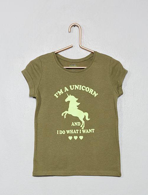 T-shirt imprimé 'éco-conception'                                                                                                                                                     kaki