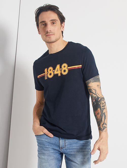 T-shirt imprimé 'éco-conception'                                                                                                                                                                                                                 marine/1848