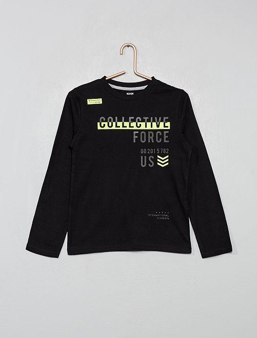 T-shirt imprimé 'éco-conception'                                                                                                                             noir