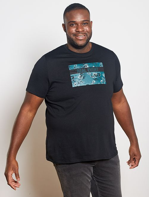 T-shirt imprimé 'éco-conception'                                                     noir real