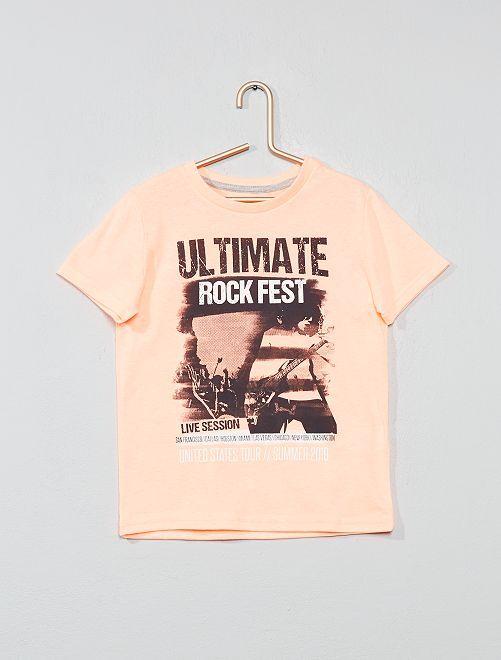 T-shirt imprimé 'éco-conception'                                                                                                                                                                             orange fluo