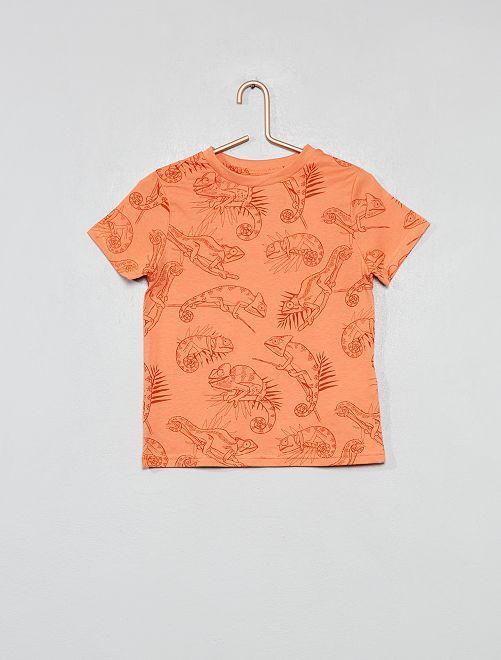 T-shirt imprimé 'éco-conception'                                                                                                     orange