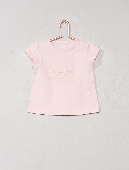 T-shirt imprimé 'éco-conception'                                                                                                     rose