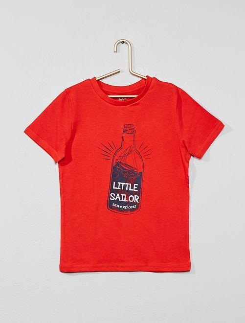 T-shirt imprimé 'éco-conception'                                                                                                                                                                             rouge Garçon