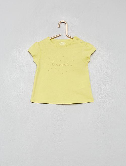T-shirt imprimé 'éco-conception'                                                                                         vert