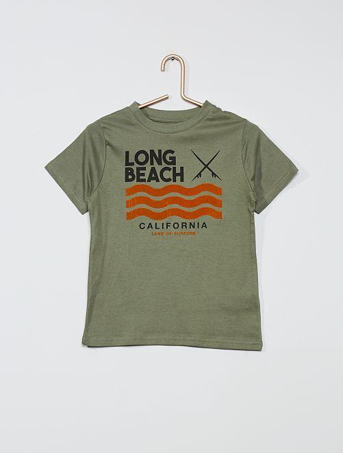 T-shirt imprimé 'éco-conception'                                                                                                                                                                                         vert/plage