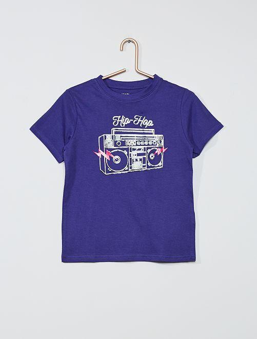 T-shirt imprimé 'éco-conception'                                                                                                                                             violet/hip hop
