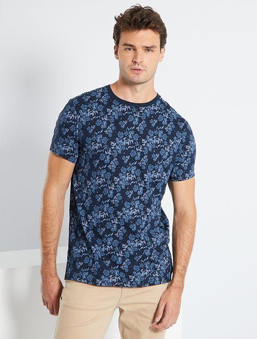 T-shirt imprimé éco-conçu +1m90                                         bleu marine
