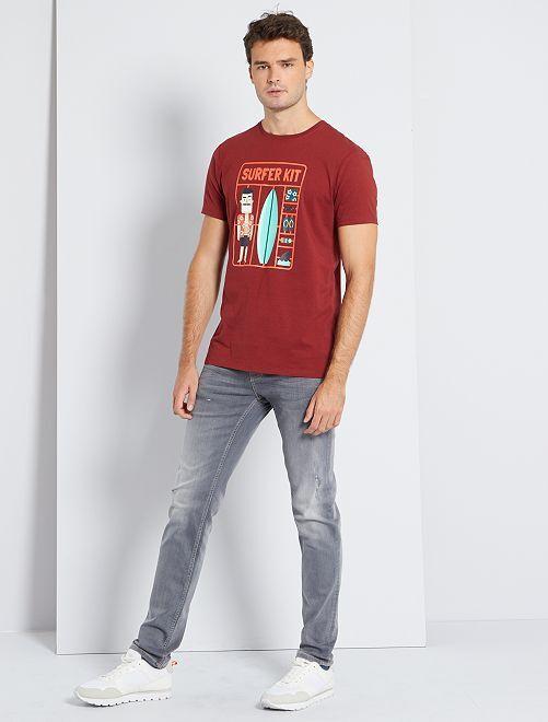 T-shirt imprimé éco-conçu +1m90                                         rouge