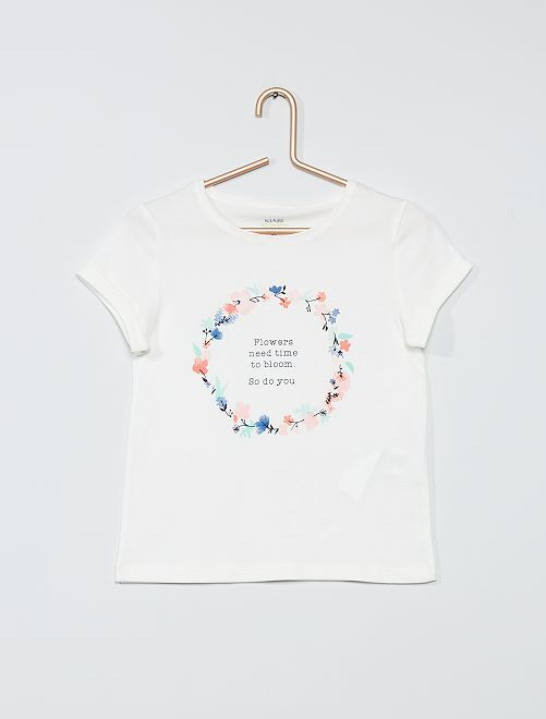 T-shirt imprimé éco-conçu                                                                             BEIGE