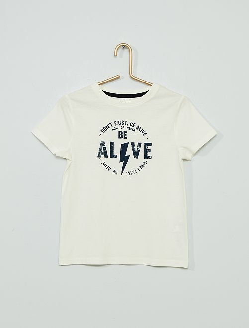 T-shirt imprimé 'éco-conçu'                                                                                                                                                                 beige