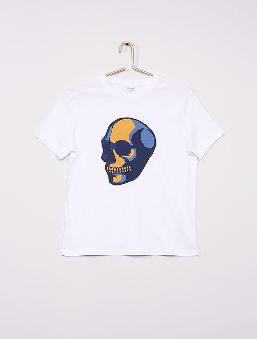 T-shirt imprimé éco-conçu                                                                                                                                                                                                                                                                                         blanc crâne