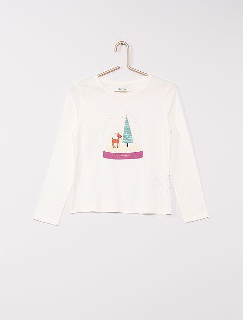 T-shirt imprimé 'éco-conçu'                                                                                                                                                     blanc