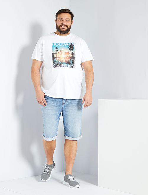 T-shirt imprimé éco-conçu                     blanc holidays