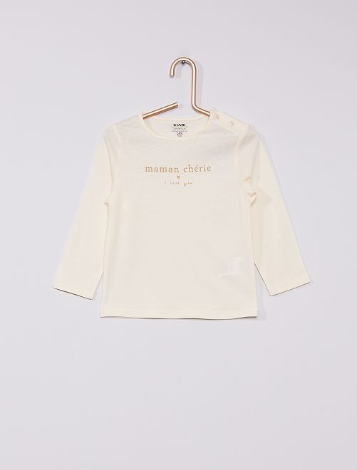 T-shirt imprimé éco-conçu                                                                                                                             blanc maman