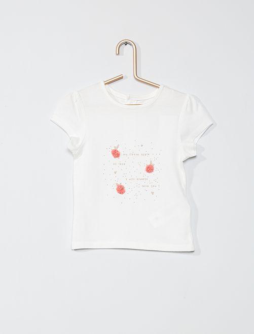 T-shirt imprimé 'éco-conçu'                                                                 blanc nœuds