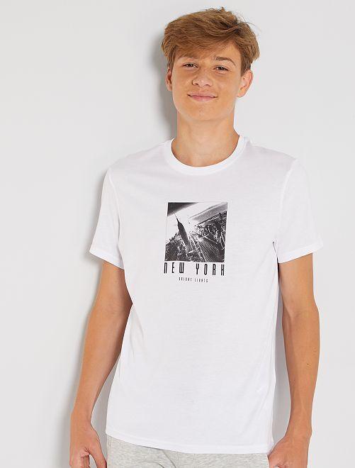 T-shirt imprimé éco-conçu                                                                                                                                                                                             blanc nyc