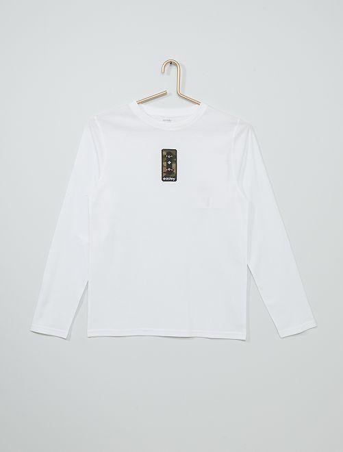 T-shirt imprimé éco-conçu                                                                                                                                                                                                                             blanc skate