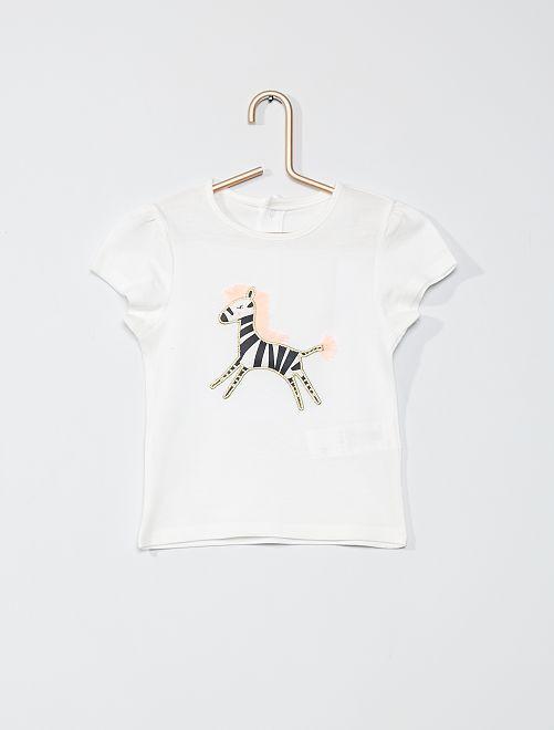 T-shirt imprimé 'éco-conçu'                                                                 blanc zèbre