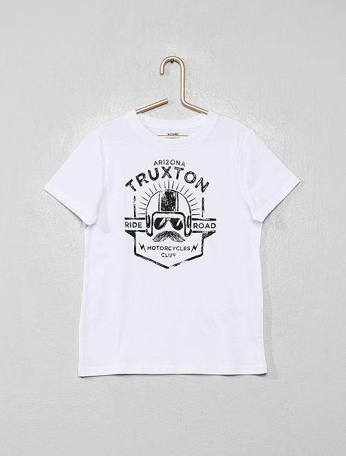 T-shirt imprimé éco-conçu                                                                                                                                                                                         blanc/truxton