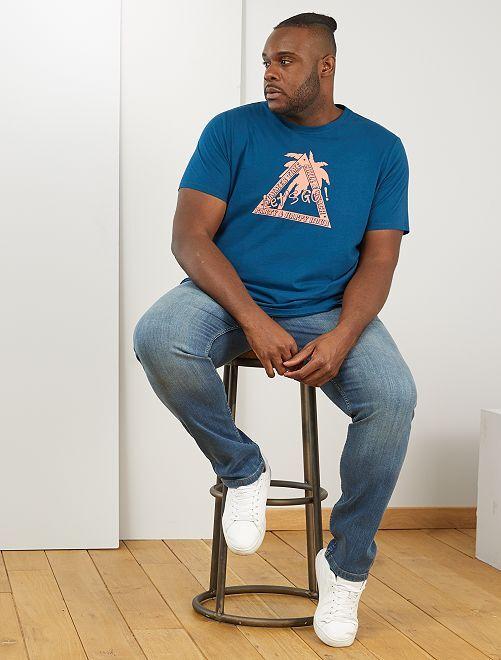 T-shirt imprimé éco-conçu                                                                             bleu canard lets go