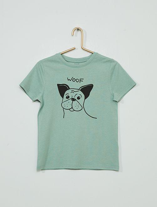 T-shirt imprimé 'éco-conçu'                                                                                                                                                                 bleu chien