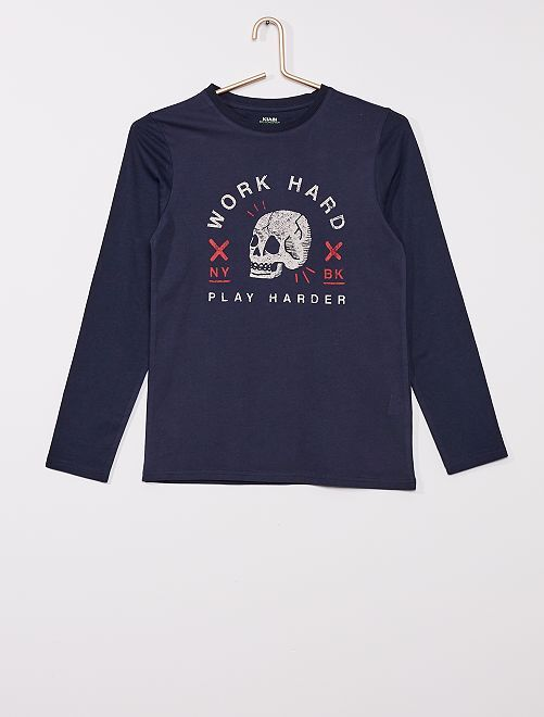T-shirt imprimé éco-conçu                                                                                                                                                                                                                             bleu