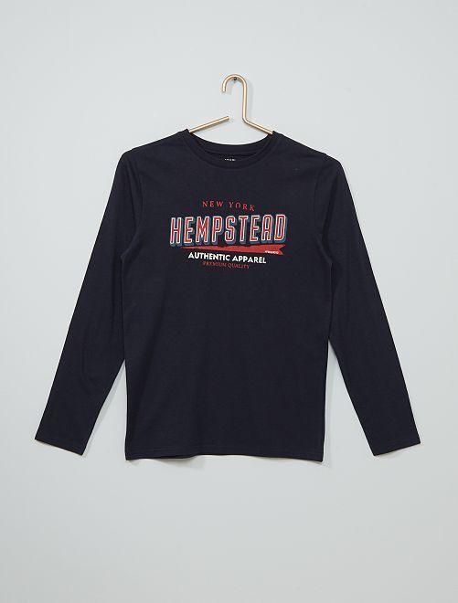 T-shirt imprimé éco-conçu                                                                                                                                                                                                                 bleu ledg