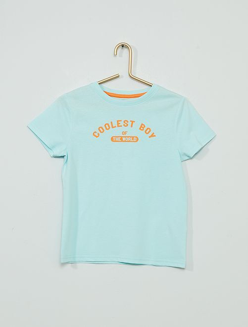 T-shirt imprimé 'éco-conçu'                                                                                                                                                                 bleu