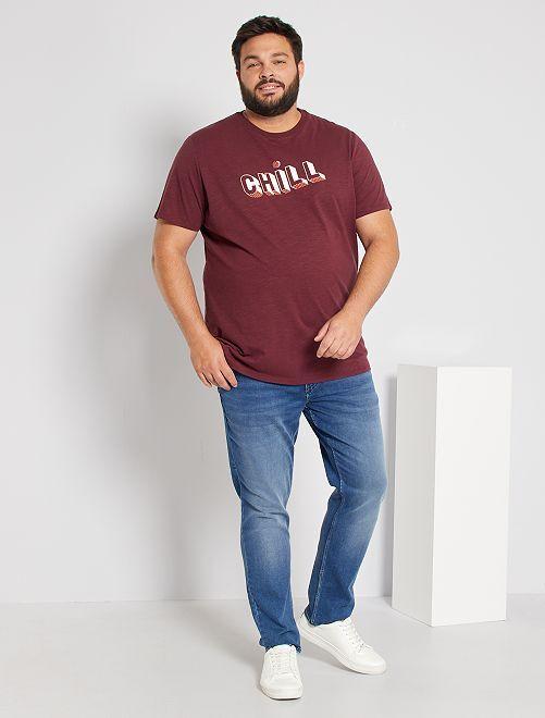 T-shirt imprimé éco-conçu                                                     bordeaux