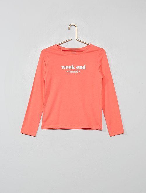 T-shirt imprimé éco-conçu                                                     corail week end