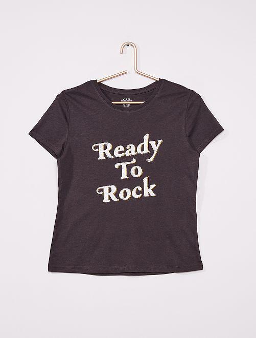 T-shirt imprimé éco-conçu                                                                                                                 gris foncé