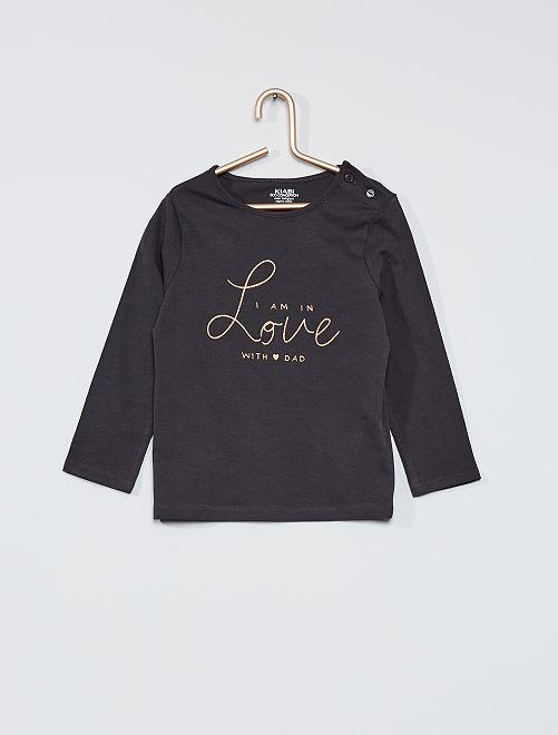 T-shirt imprimé 'éco-conçu'                                                                                                     gris foncé/love
