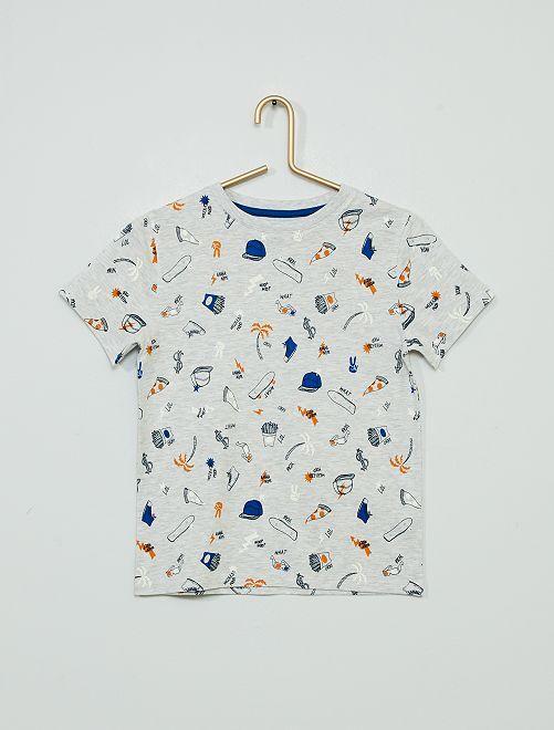 T-shirt imprimé 'éco-conçu'                                                                                         gris