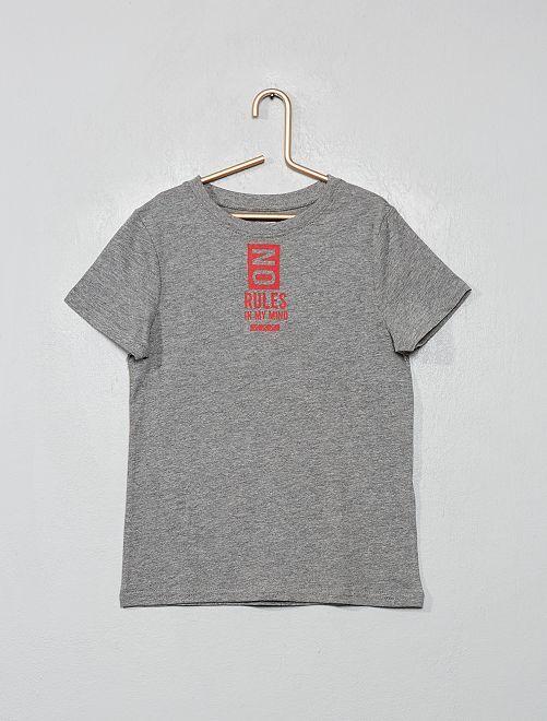 T-shirt imprimé éco-conçu                                                                                                                                                                             gris/rules