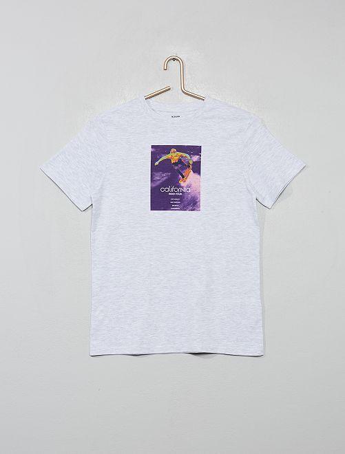T-shirt imprimé éco-conçu                                                                                                         gris/skate