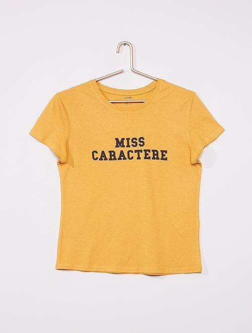 T-shirt imprimé éco-conçu                                                                                                                 jaune