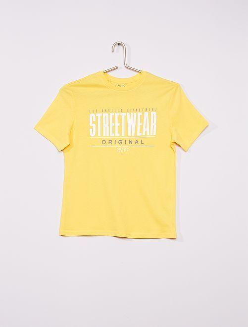 T-shirt imprimé éco-conçu                                                                                                                                                                                                                                                                             jaune street