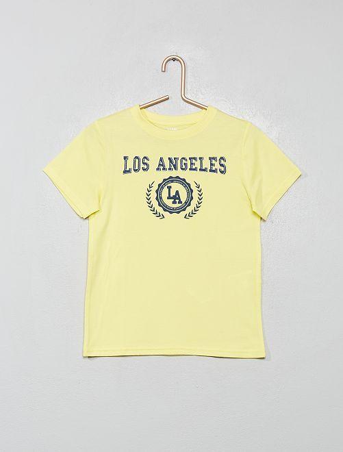 T-shirt imprimé éco-conçu                                                                                                                                         jaune/LA