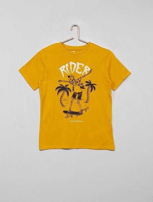 T-shirt imprimé éco-conçu                                                                                                                 jaune/skate