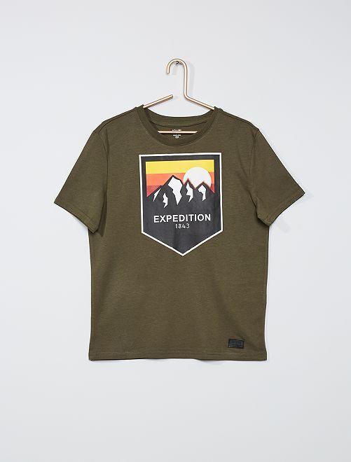 T-shirt imprimé éco-conçu                                         kaki