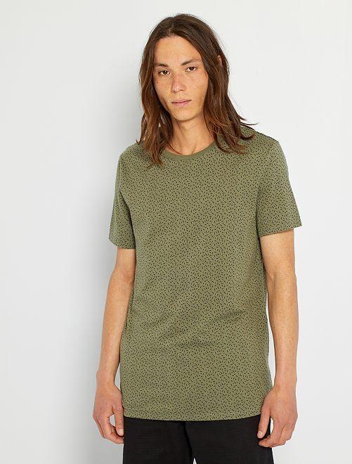T-shirt imprimé éco-conçu                                                                                                                             kaki/micro