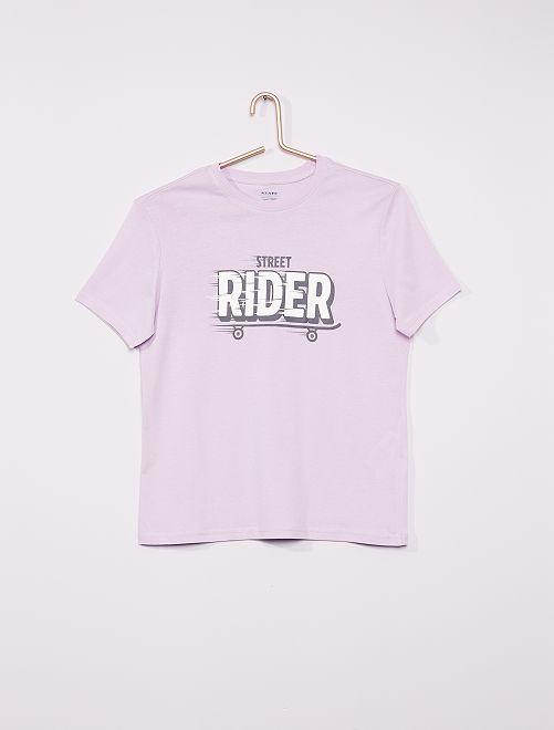 T-shirt imprimé éco-conçu                                                                                                                                                                                                                             lilas rider