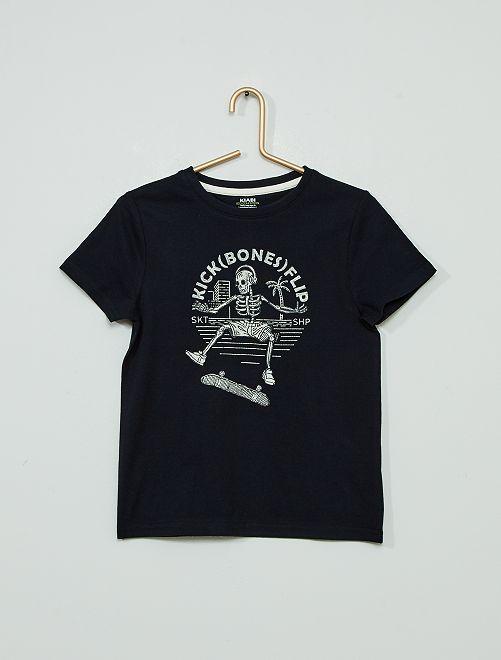 T-shirt imprimé 'éco-conçu'                                                                                                                                                                 marine squelette